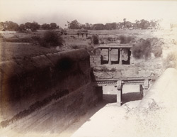 View of the canal leading to the inlet sluice of the Khan Sarowar Tank, Patan